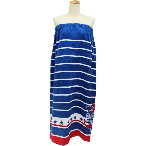 ラップタオル  マキタオル LLサイズ  大人用 水泳用品 プール バスタオル シーサイドメモリー ワンピース サウナ用タオル 約100×120cm