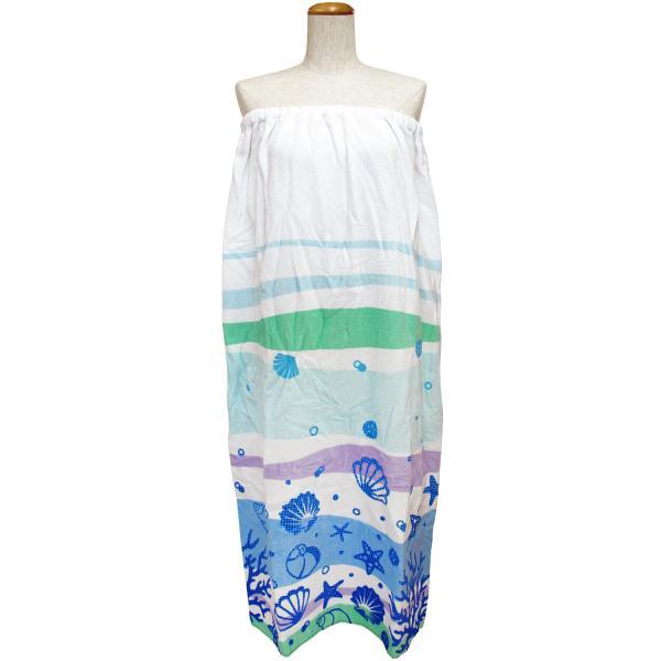 ラップタオル  マキタオル LLサイズ  大人用 水泳用品 プール バスタオル シーボトム ワンピース サウナ用タオル 約100×120cm