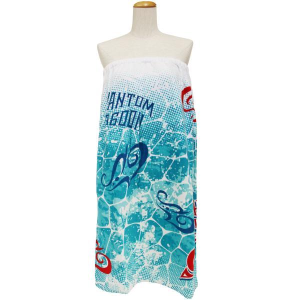 ラップタオル  マキタオル Lサイズ  ファントムラグーン  水泳用品 プール バスタオル ワンピース サウナ用タオル 約80×120cm