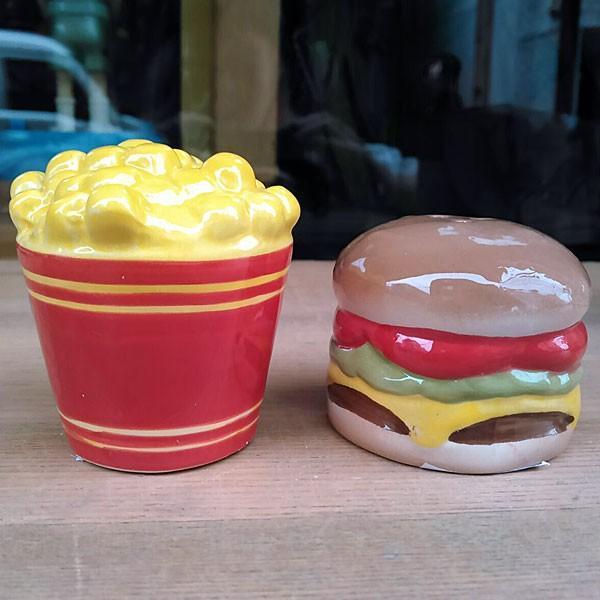 Hamburger&Potato Salt&Pepper Shakers★ハンバーガー&ポテト ソルト&ペッパー|toy-burger