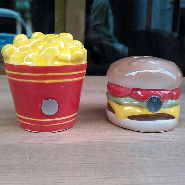Hamburger&Potato Salt&Pepper Shakers★ハンバーガー&ポテト ソルト&ペッパー|toy-burger|02