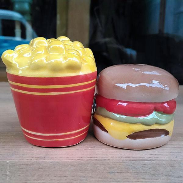 Hamburger&Potato Salt&Pepper Shakers★ハンバーガー&ポテト ソルト&ペッパー|toy-burger|03