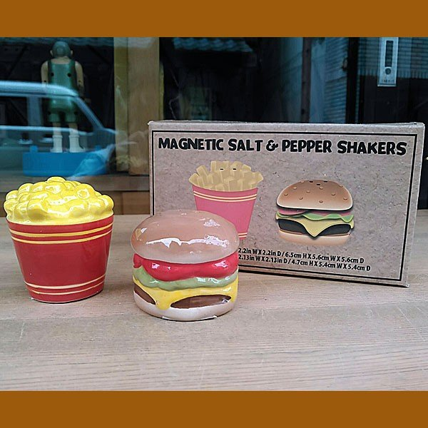 Hamburger&Potato Salt&Pepper Shakers★ハンバーガー&ポテト ソルト&ペッパー|toy-burger|05