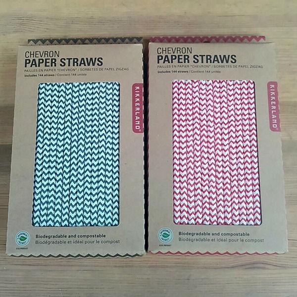 Chevron Paper Straws Red★シェブロンペーパーストロー レッド|toy-burger|02