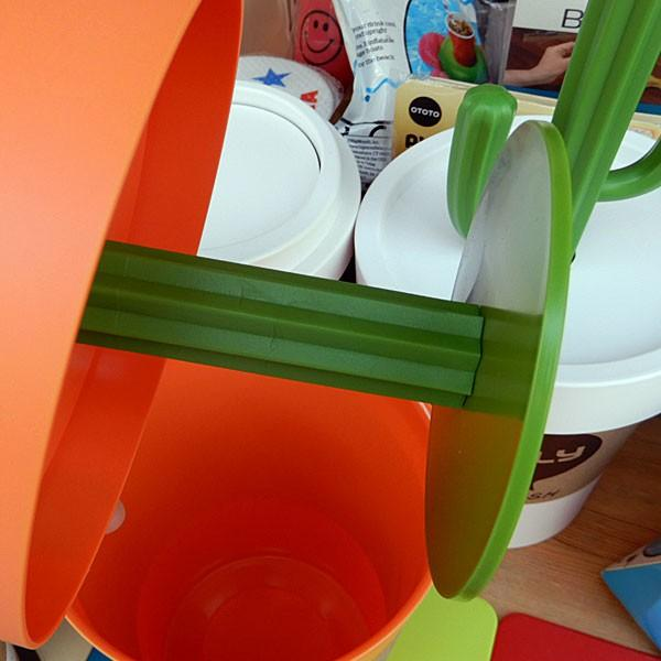 Cactrash Bin★カクトラッシュビン オレンジ  サボテンモチーフのダストボックス|toy-burger|04