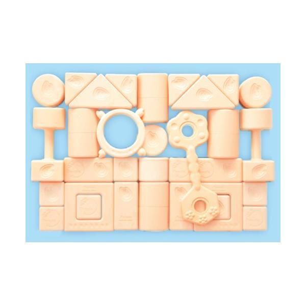 お米のおもちゃシリーズ 純国産お米のつみき 白米色|toy-manoa|02