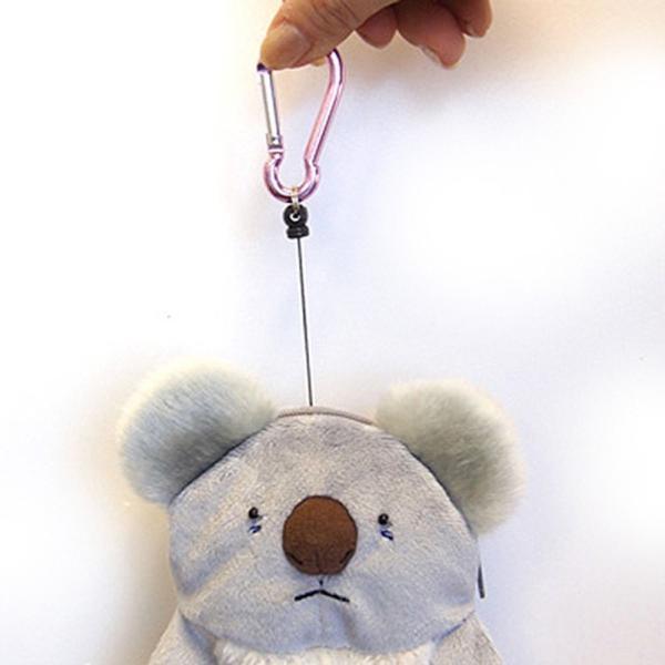 リールコード付きパスポーチ『コアラさん』/【定形外郵便可】|toy-piece|03