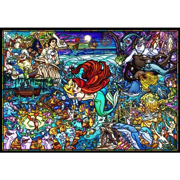 ジグソーパズル TEN-DP1000-033 ディズニー リトル・マーメイド  ストーリーステンドグラス  (リトル・マーメイド) 1000ピース