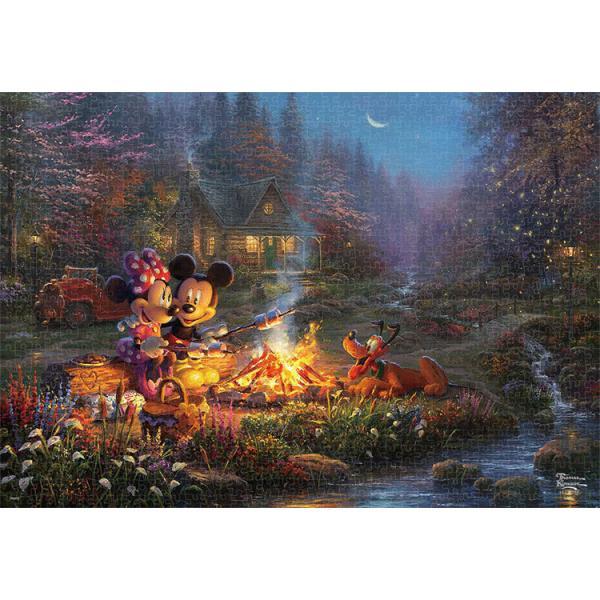 ジグソーパズル TEN-D1000-079 ディズニー Mickey and Minnie Sweetheart Campfire (ミッキー&フレンズ) 1000ピース