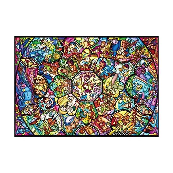 ジグソーパズル ぎゅっと266ピース ピュアホワイトジグソー ディズニー オールスターステンドグラス (DPG-266-563)