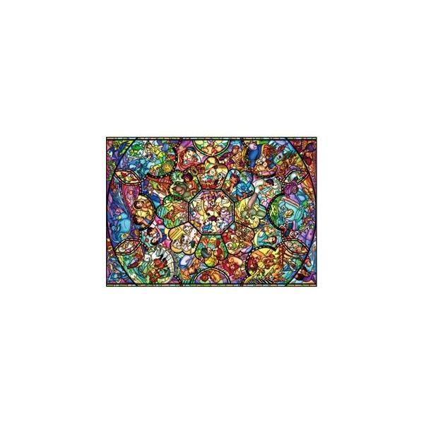 ジグソーパズル 1000ピース ディズニー ステンドアート オールスターステンドグラス(DS-1000-764)