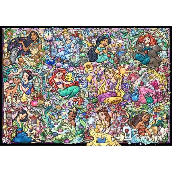 ジグソーパズル 1000ピース ディズニープリンセス コレクション ステンドグラス 1000-776