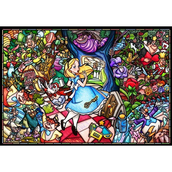 ジグソーパズル 1000ピース ディズニー ふしぎの国のアリス ストーリーステンドグラス DP-1000-027