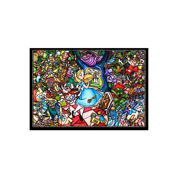 ジグソーパズル ぎゅっと500ピース ディズニー ステンドアートジグソー ふしぎの国のアリス ストーリー ステンドグラス DSG-500-473