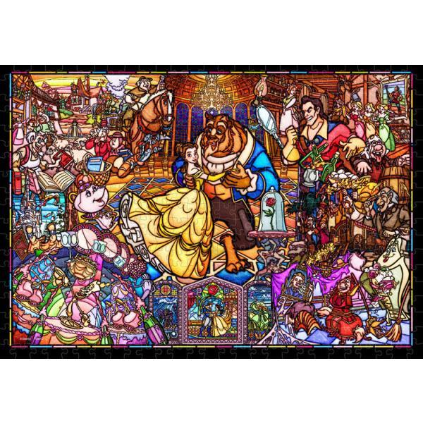 ジグソーパズル ぎゅっと500ピース ディズニー 美女と野獣 ストーリーステンドグラス スモールピース DSG-500-667