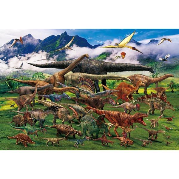 ジグソーパズル 1000ピース 服部 雅人 恐竜俯瞰図 イラスト61-445