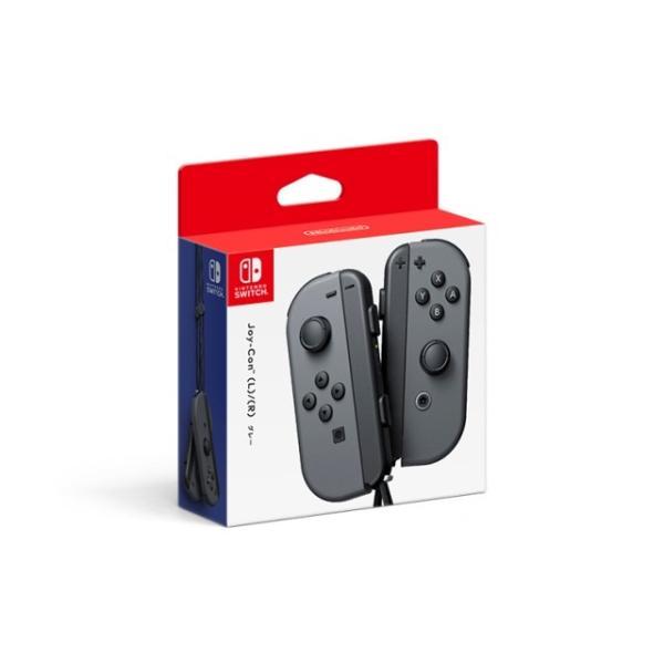 任天堂 ニンテンドースイッチ Nintendo Switchコントローラー Joy-Con(L)/(R) グレー (HAC-A-JAAAA)の画像