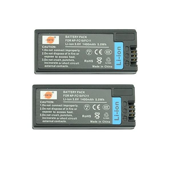 DSTER アクセサリ NP-FC10 NP-FC11 互換 カメラ バッテリー 2個 対応機種 C...SC-P9 DSC-P10 DSC-V1