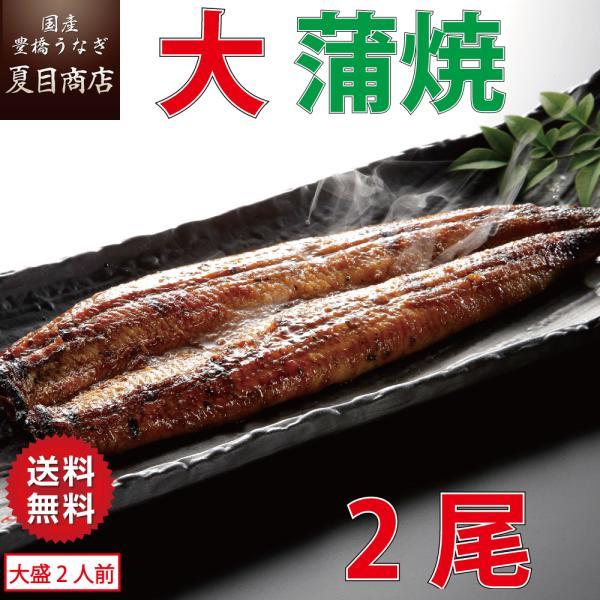 うなぎ 蒲焼き 国産 大155-180g×2尾 (大盛2人前)