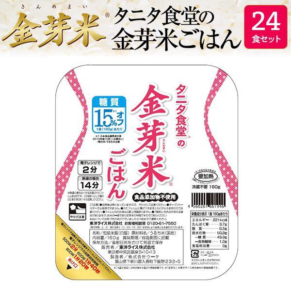 タニタ食堂の金芽米ごはん 24食セット (送料込み) (レンジでチンするパックごはん)