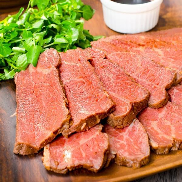 訳あり 高級 ローストビーフ 約400g〜500g前後 ブロック肉 霜降り モモ肉 トモサンカクのデパ地下仕様ローストビーフ|toyosushijou|04