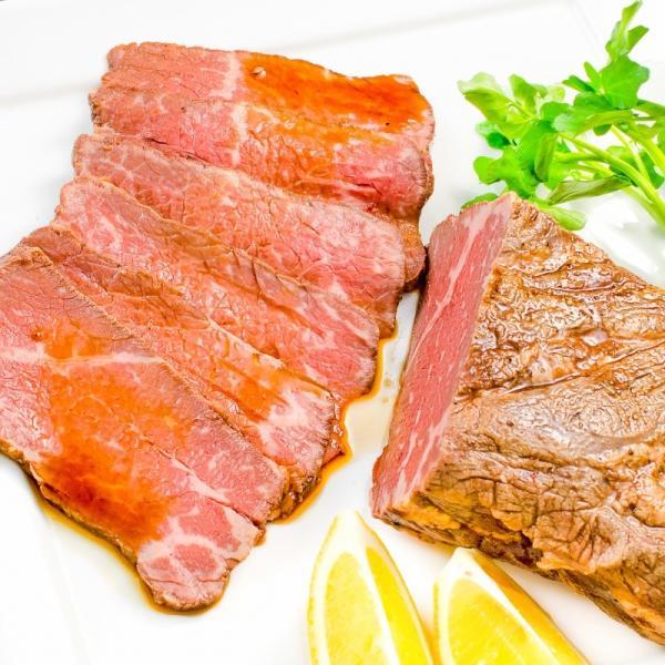 訳あり 高級 ローストビーフ 約400g〜500g前後 ブロック肉 霜降り モモ肉 トモサンカクのデパ地下仕様ローストビーフ|toyosushijou|05
