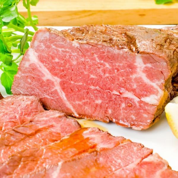 訳あり 高級 ローストビーフ 約400g〜500g前後 ブロック肉 霜降り モモ肉 トモサンカクのデパ地下仕様ローストビーフ|toyosushijou|07