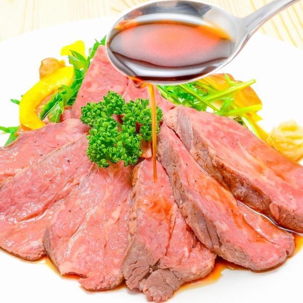 訳あり 高級 ローストビーフ 約400g〜500g前後 ブロック肉 霜降り モモ肉 トモサンカクのデパ地下仕様ローストビーフ|toyosushijou|08