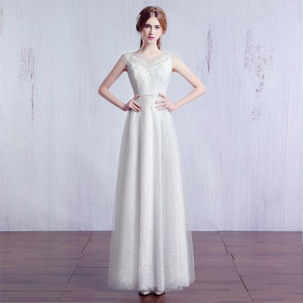 e8ec8a30aff9e ウェディングドレス 白 aラインドレス 安い ウエディングドレス 二次会 花嫁 パーティードレス 披露宴 ブライダル 結婚 ...