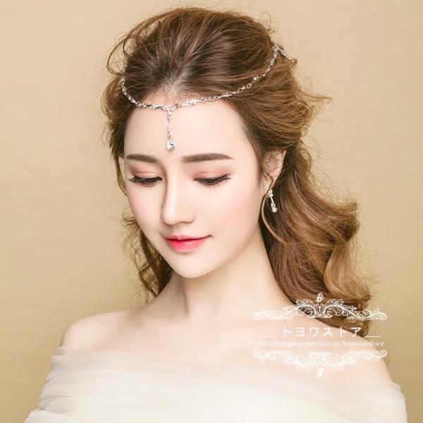 d63dd8b4281e5 ウエディング ティアラ 額飾り 安い ブライダル 髪飾り 花嫁 ウェディング ネックレス 結婚式 ヘッドドレス パーティー ...