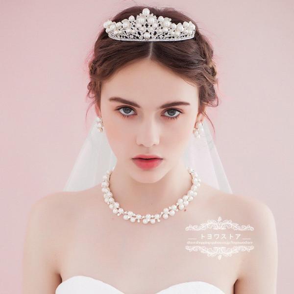 f19b79c791ac6 ウエディング ヘッドドレス 安い ティアラ ヘアピン ネックレス ピアス・イヤリング 結婚式 髪飾り 花嫁 パーティー ...