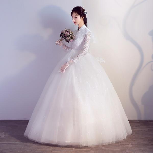 ウエディングドレス エンパイア 安い 二次会 ウェディングドレス 結婚