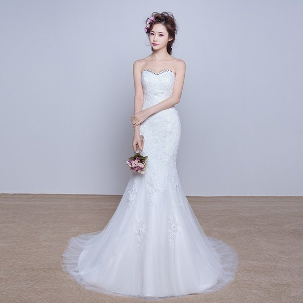 70f9d82bafe69 ウェディングドレス マーメイドライン ウエディングドレス 安い 花嫁 ロングドレス 披露宴 マーメイドドレス 二次会 結婚式 ...