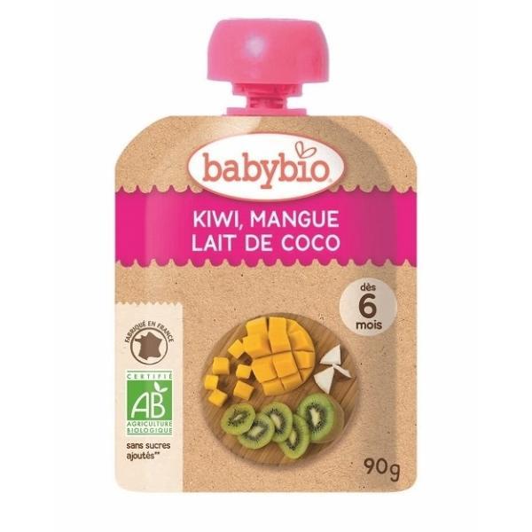 有機フルーツと野菜だけで作ったベビースムージー babybio(ベビービオ)キウイ・マンゴー・ココナッツ 【6ヶ月〜】