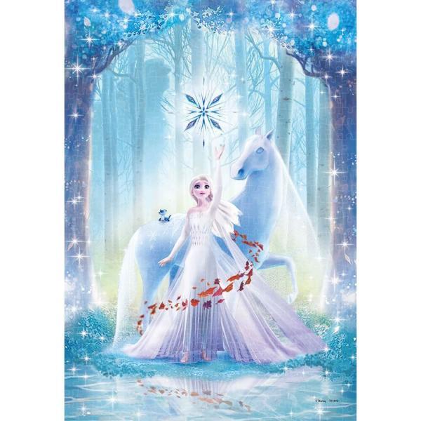 ディズニー 500ピース ジグソーパズル ピュアホワイトぎゅっと アナと雪の女王 美しい森