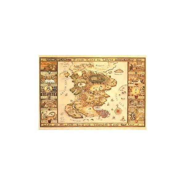 ジグソーパズル 1000ピース わちふぃーるど わちふぃーるどの地図 10-301