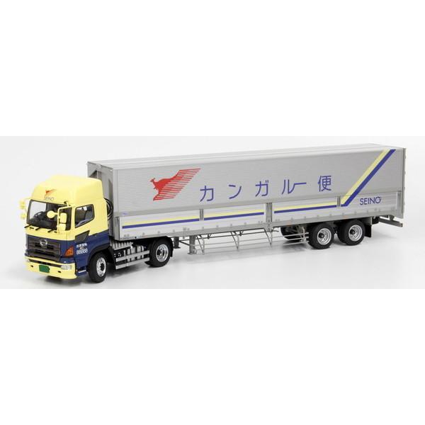 5月発売予定 完成品ダイキャストミニカー1/50日野プロフィアSH4×2トラクタ日本トレクスセミトレーラセット西濃運輸PRFS
