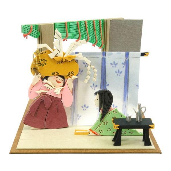 ペーパークラフト みにちゅあーとキット スタジオジブリmini かぐや姫の物語 女童とかぐや姫 MP07-107 送料無料