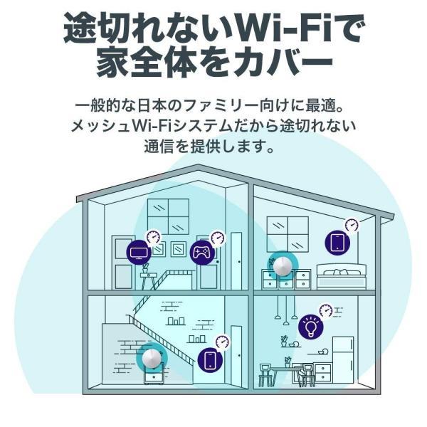 【2台ユニット セットでお得】WiFiルーター 無線LANルーター 次世代向けメッシュネットワークシステム 無線ルータ  11ac/n Wi-FiシステムTP-Link  Deco M5|tplink|08