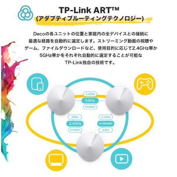 【リニューアル新発売】 無線LANルーター 無線ルーターシステム メッシュWiFiルーターシステム 11ac/n 3ユニットセット TP-Link Deco M5 メーカーダイレクト tplink 05