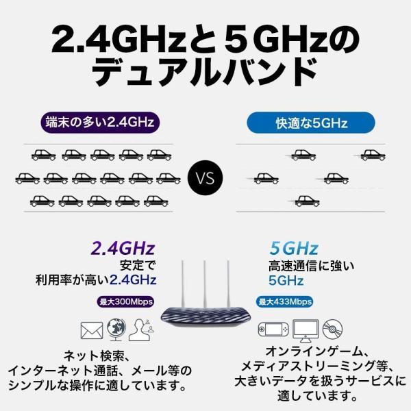 リニューアル新発売-無線Lanルータ wi-fiルーター 300+433Mbps無線ルータTP-Link Archer C20 新世代11ac/n無線ルーター WIFI 業界最長3年保証 tplink 05