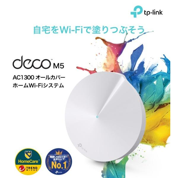 【次世代規格】WIFIルーターシステム 無線ルーター システム メッシュWiFiルーター システム 無線LANルータ 11ac/n 3ユニットセット TP-Link Deco M5 tplink 02