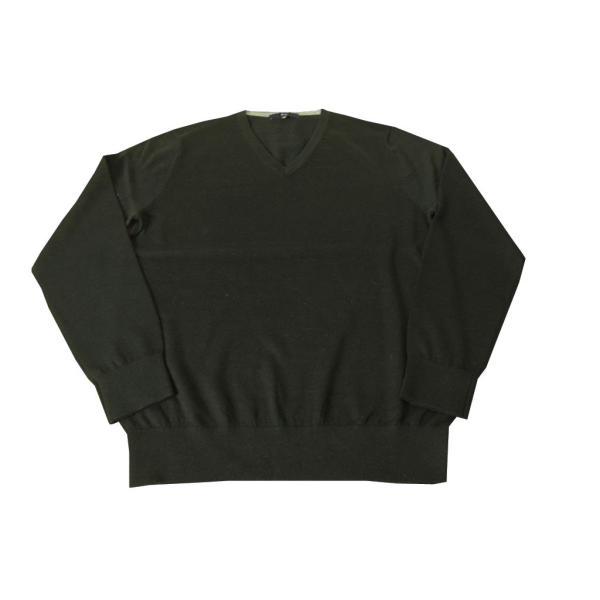 G-STAGE Vネック ニットセーター ブラック 黒無地 1011 tradhousefukiya 04