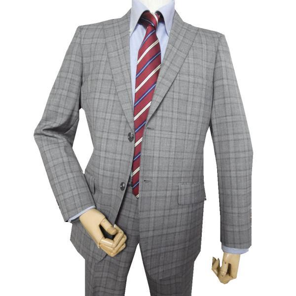 Dady Costa春夏スーツ ミディアムグレー チェック