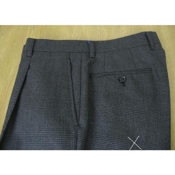 メンズ スーツ 秋冬 スリーピース チャコールグレー グレンチェック 段返り3つボタン 0118 tradhousefukiya 11
