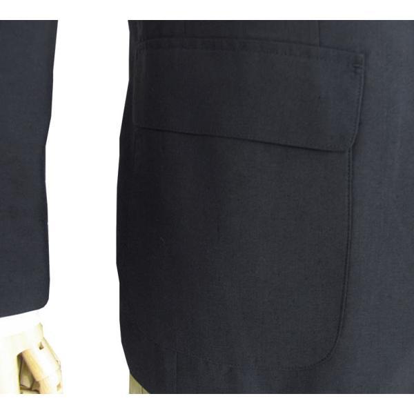 春夏 2つボタン ジャケット 麻混 メンズ 紺 ブレザー OXFORD CLASSIC 0288|tradhousefukiya|06