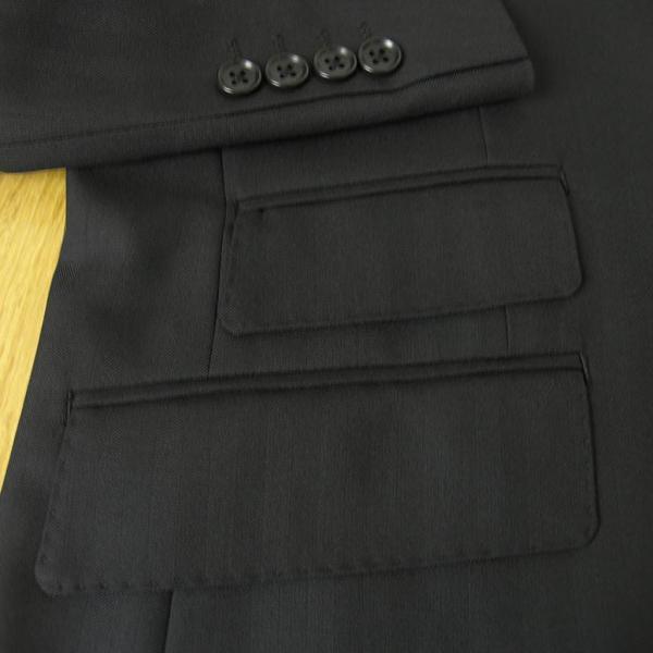 春夏秋 シャドーヘリンボーン 6009 黒 OXFORD CLASSIC スリーピース