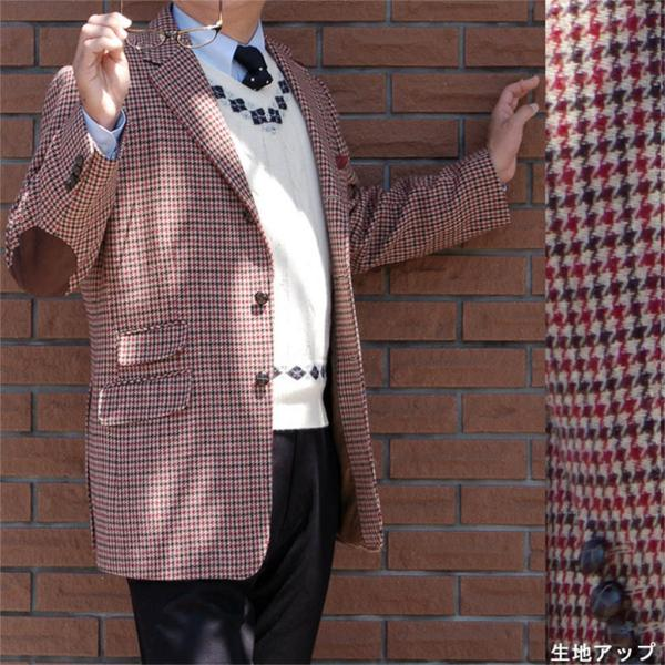 秋冬 メンズ ツイード ジャケット 3つボタン ガンクラブチェック 4852|tradhousefukiya