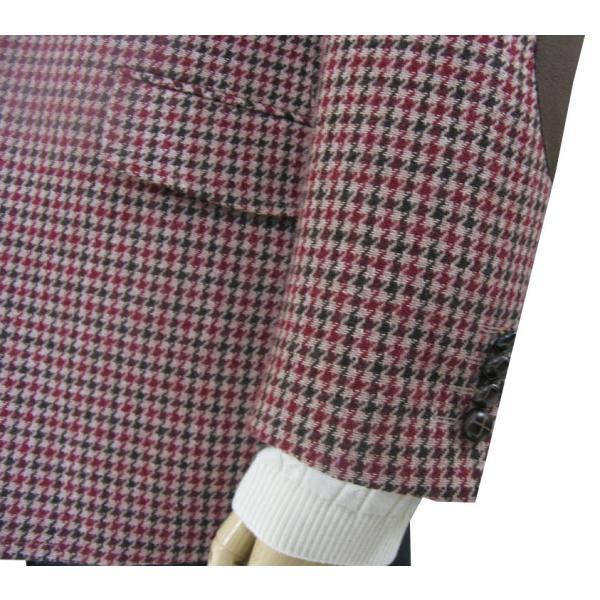 秋冬 メンズ ツイード ジャケット 3つボタン ガンクラブチェック 4852|tradhousefukiya|06