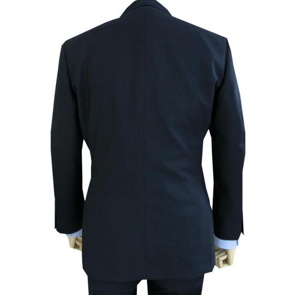 春夏秋 メンズ スーツ 3つボタン スリーピース 濃紺無地 英国調 0588|tradhousefukiya|03